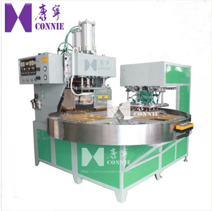 Auto High frequency rotated table blister packing machine