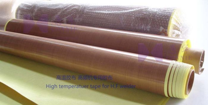 High temperature tape for H.F welder
