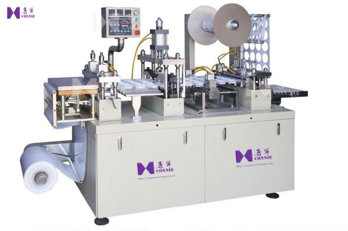 PVC cylinder lid forming machine