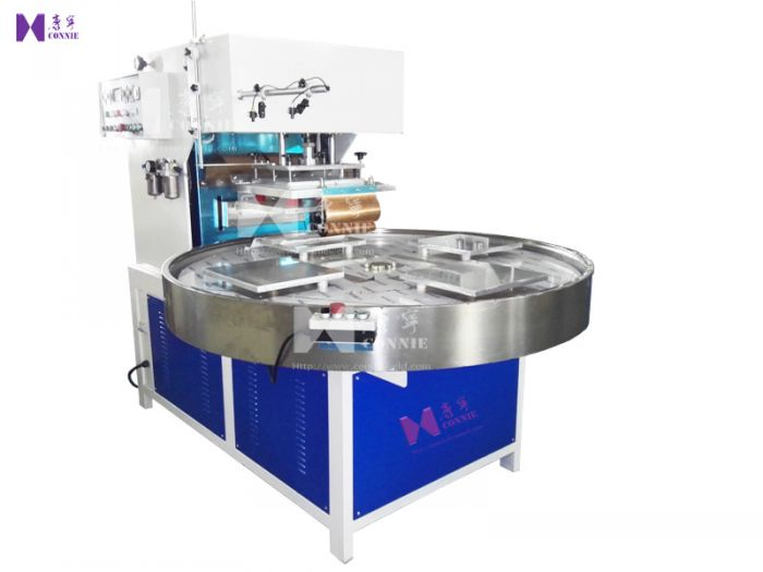 CN-10KW-4AC H.F turn table blister packing machine