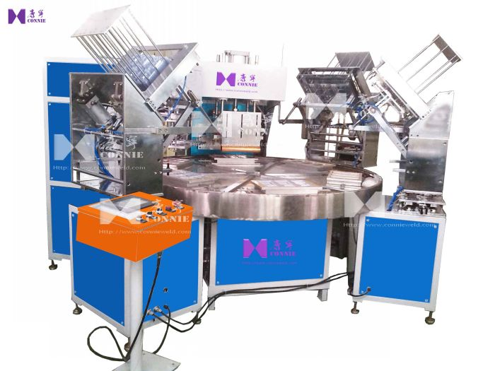 CN-15KW-6AC H.F turn table blister packing machine